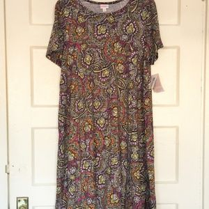 NWT Carly Indian Floral Stained Glass Print Dress